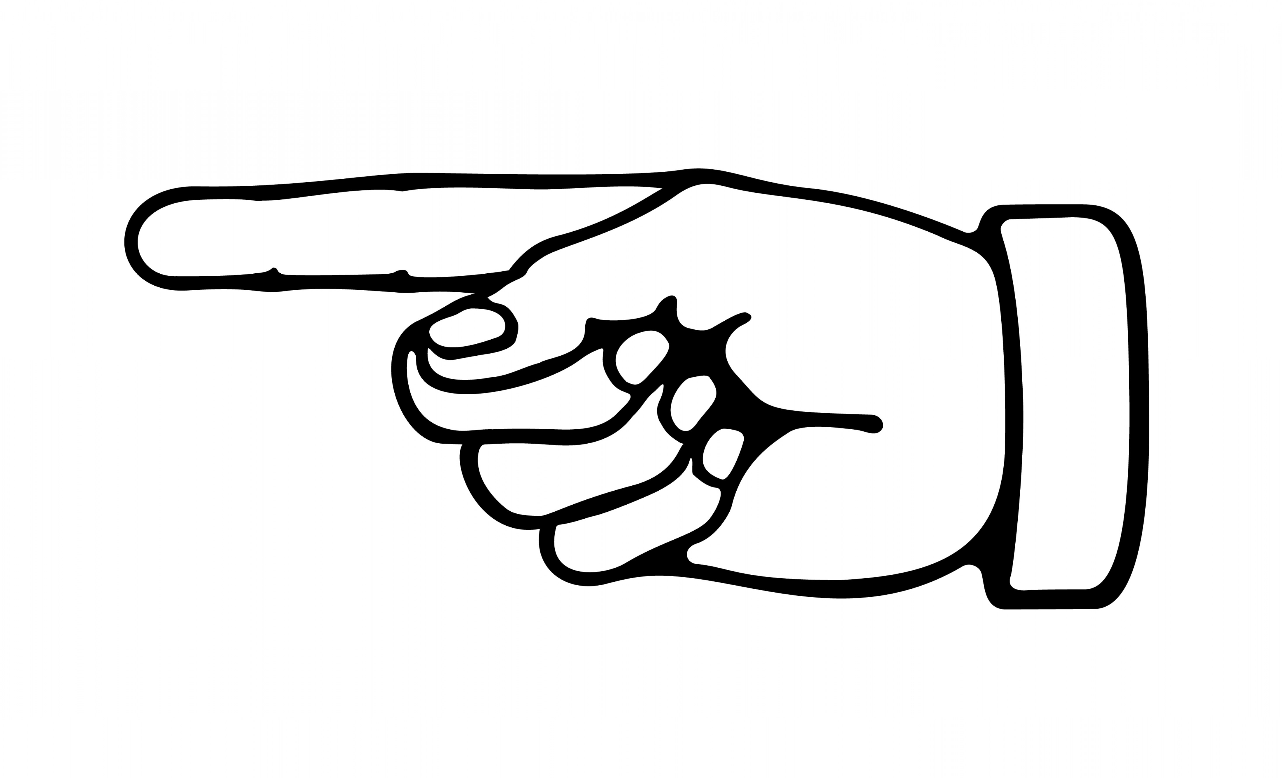 Hand pointing clipart 7 » Clipart Station