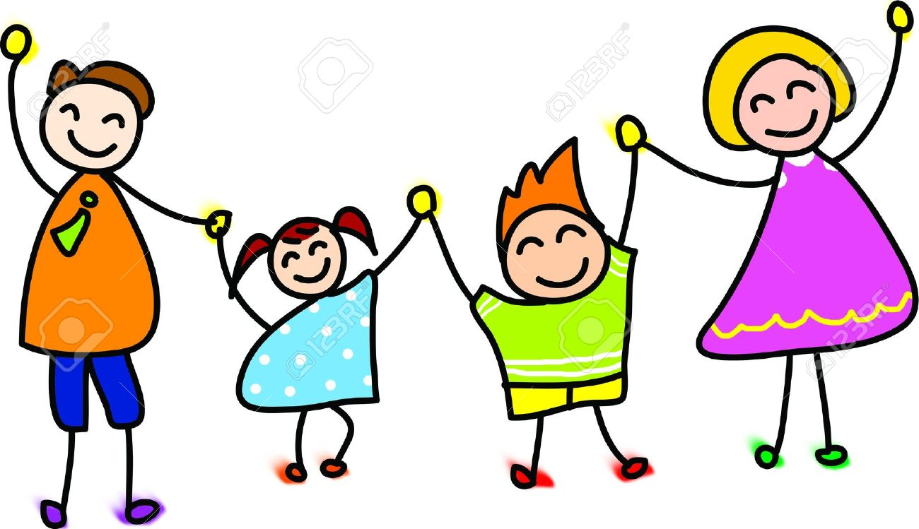 Family animated. Happy clipart png station