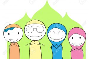 happy muslim family clipart 14