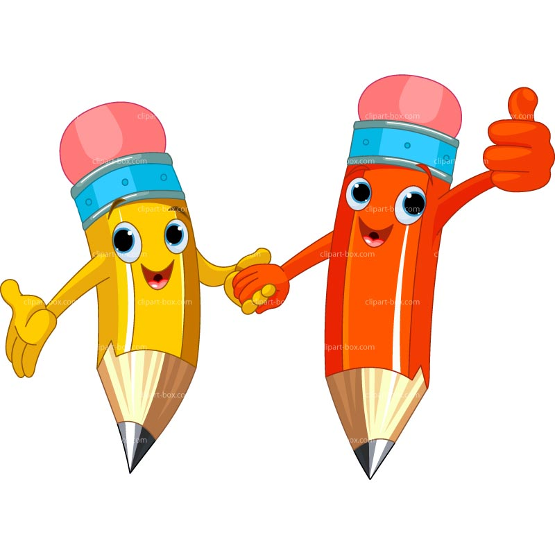 Pencil happy. Clipart station