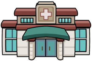 health center building clipart 1