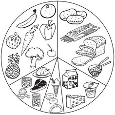 Healthy food clipart black and white 7 » Clipart Station