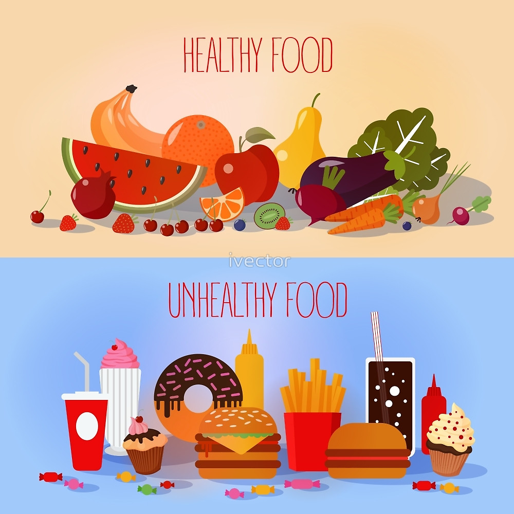 healthy food vs junk food clipart 12 187 clipart station