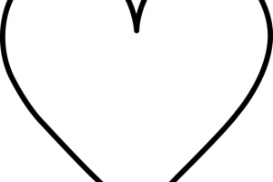 heart black and white clipart 1