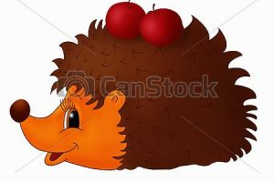 herbst igel clipart 3