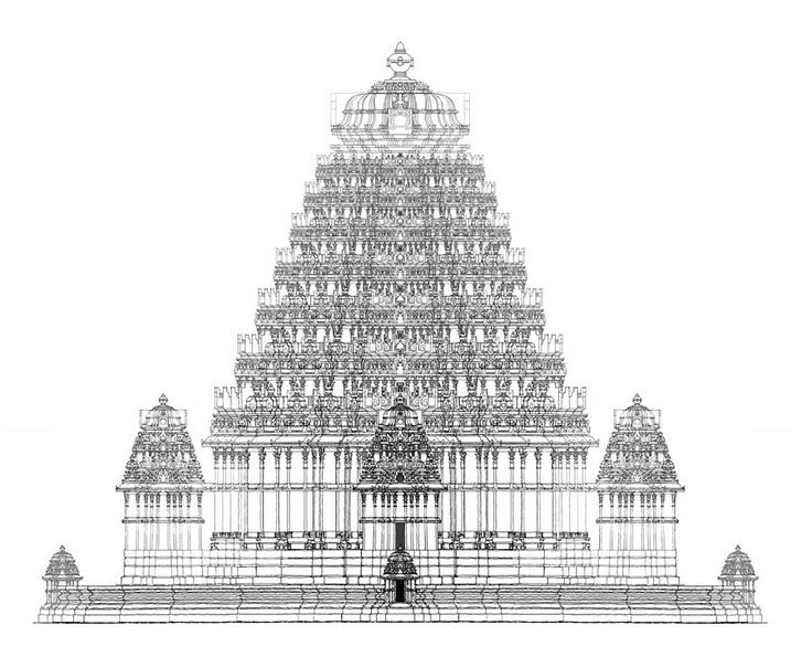 Hindu Temple Clipart Black And White 4 Clipart Station