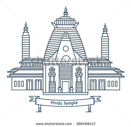 Hindu Temple Clipart Black And White 5 Clipart Station