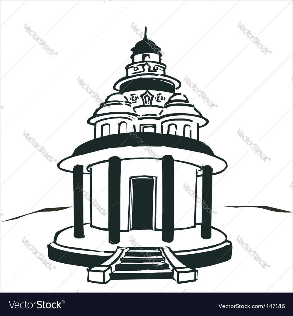 Hindu Temple Clipart Black And White 8 Clipart Station
