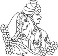 Hindu Wedding Clipart Black And White 3