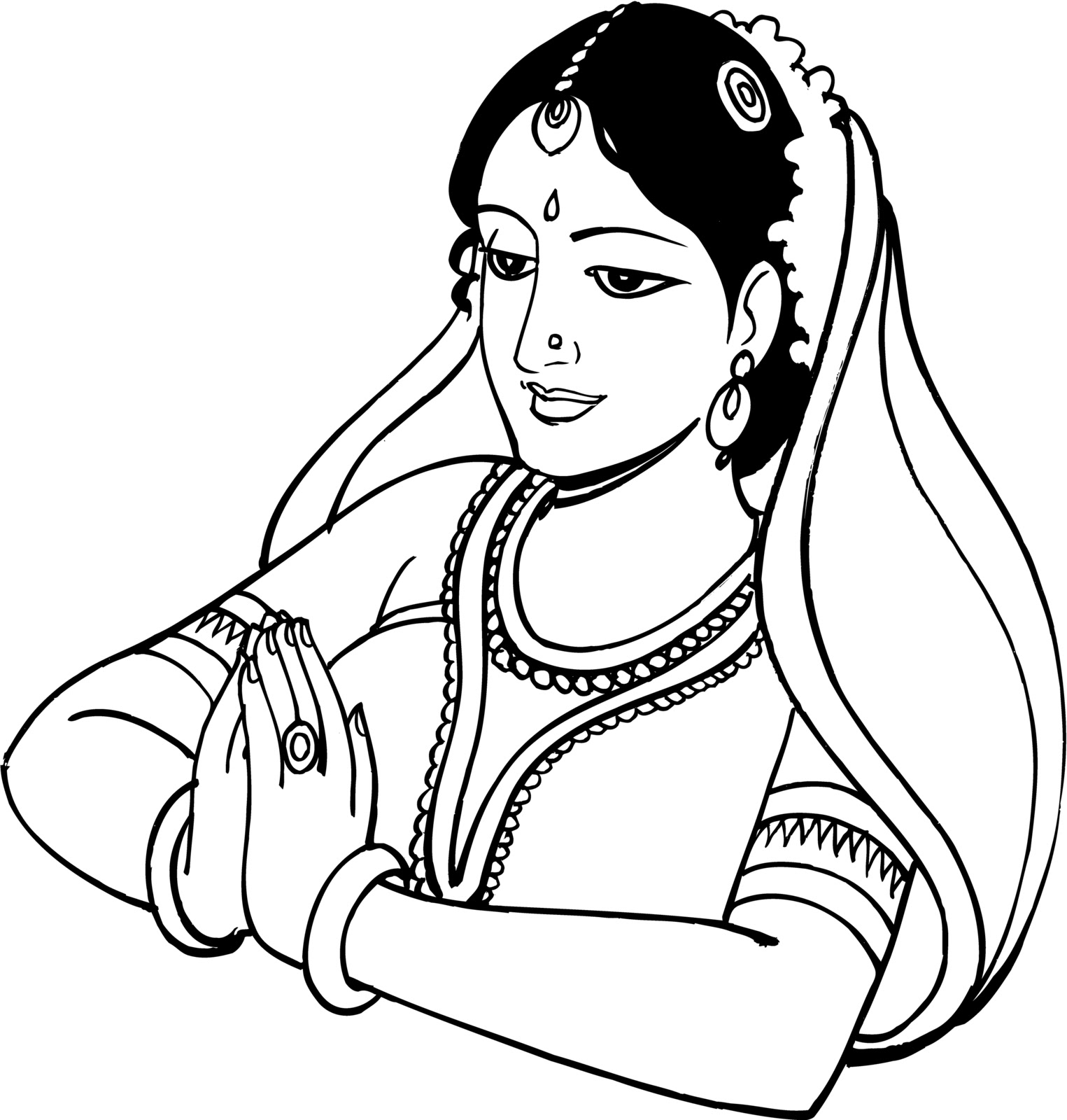 Hindu Wedding Clipart Black And White 9