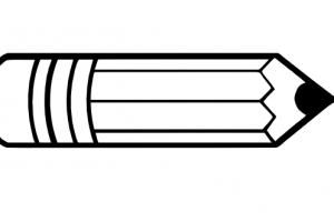 horizontal pencil clipart 2