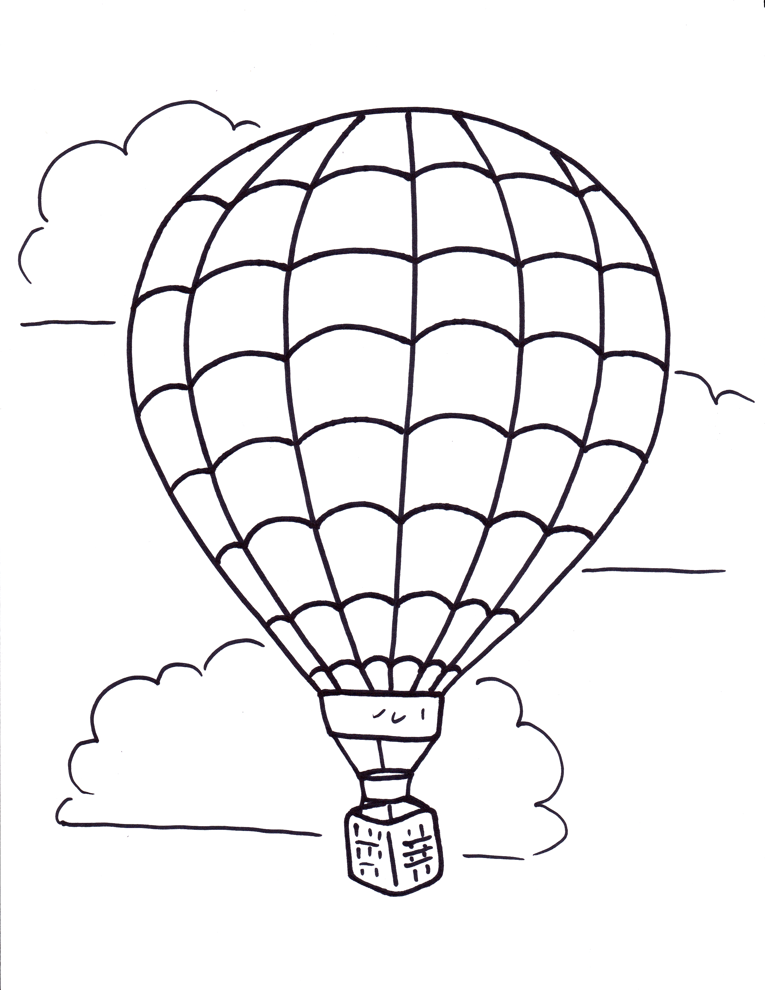It's just a photo of Hot Air Balloon Coloring Pages Free Printable inside writing