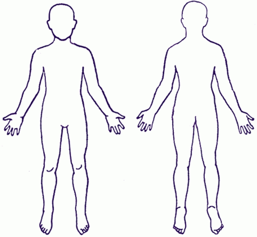 graphic relating to Body Outline Printable identified as Clipart human system determine clipart human overall body define human