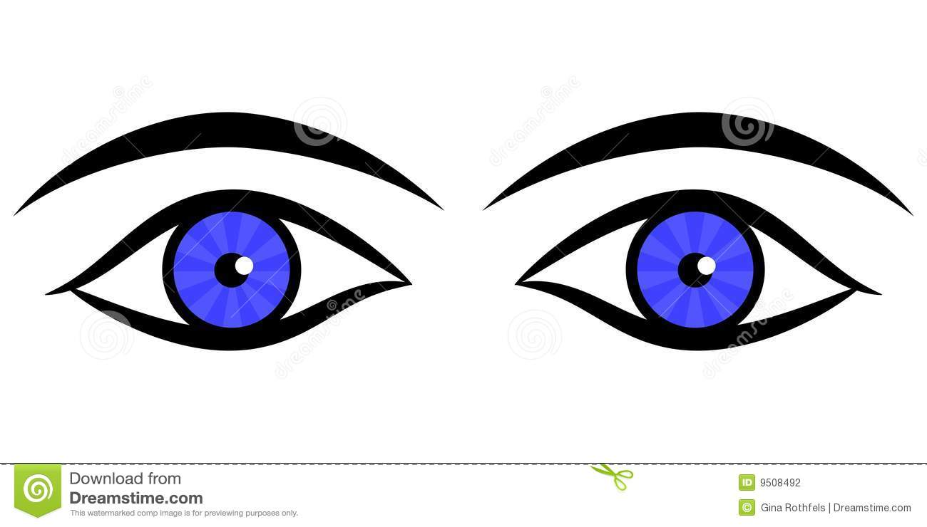 Eyes kids. Human clipart for station