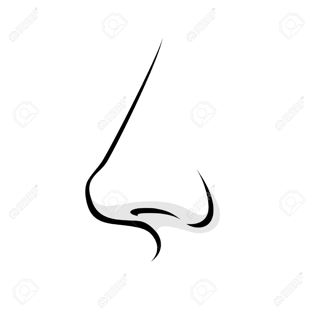 Human nose clipart black and white 7 » Clipart Station