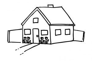 hut clipart black and white 10