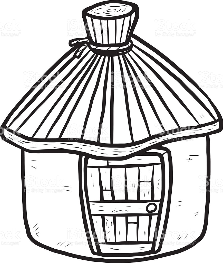 Hut Clipart Black And White 2 187 Clipart Station
