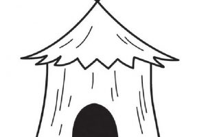 Hut Clipart Black And White 8