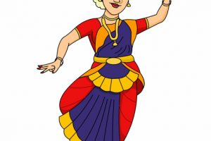 bharatanatyam  indian classical dance clipart