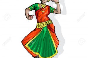 indian classical dance bharatanatyam clipart 2