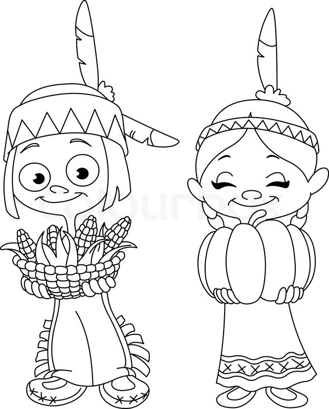 Indian Clipart Black And White 8 Clipart Station