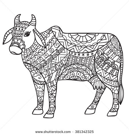 Indian Cow With Calf Clipart 1
