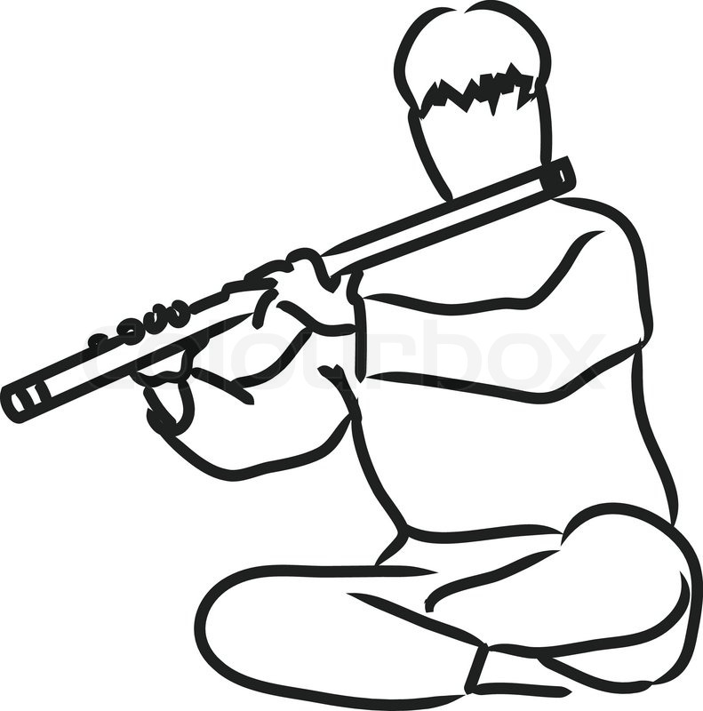 Indian flute clipart black and white 5 » Clipart Station