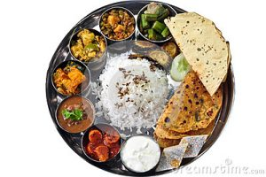 indian food plate clipart 8
