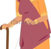 indian grandmother clipart