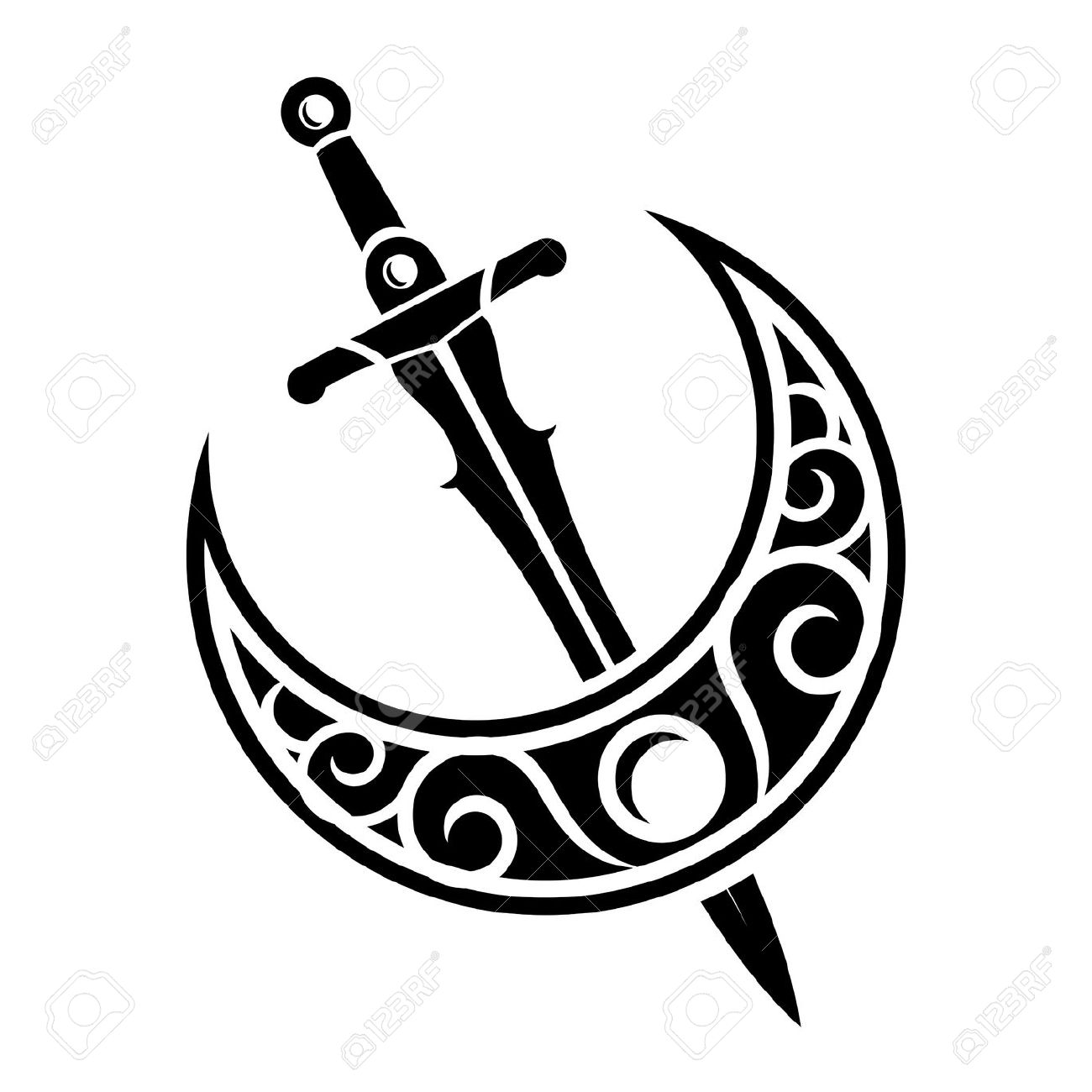 Indian sword clipart black and white 7 » Clipart Station