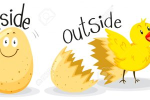 Opposite adjectives with inside and outside