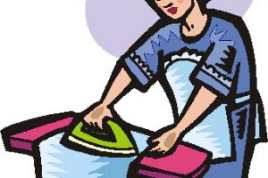ironing clothes clipart 1