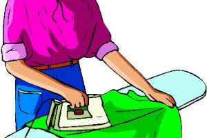 ironing clothes clipart 10