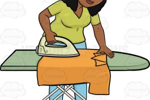 ironing clothes clipart