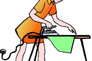 ironing clothes clipart 2