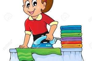 ironing clothes clipart 3