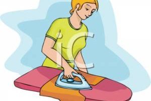ironing clothes clipart 5