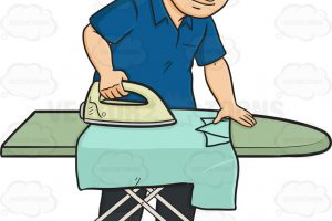 ironing clothes clipart 6