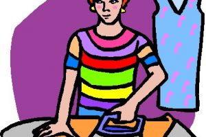 ironing clothes clipart 7