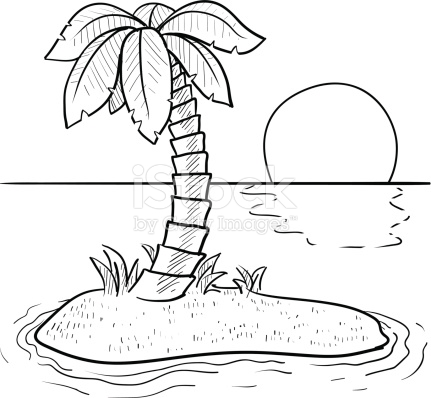 Island Clip Art Black And White Www Pixshark Com