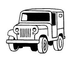 jeep clipart black and white 1