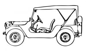 jeep clipart black and white 2