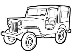Jeep Clipart Black And White 3 Clipart Station