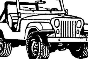 jeep clipart black and white 4