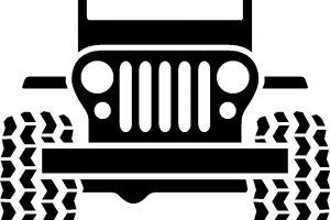jeep clipart black and white 5