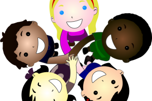join hands clipart 3