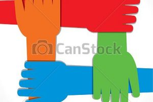 join hands clipart