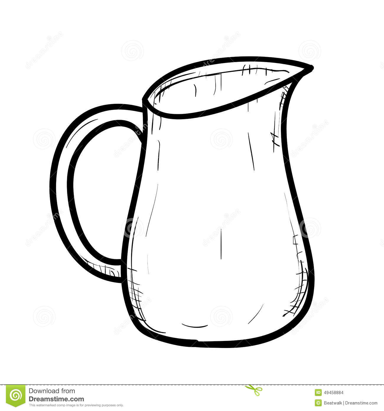 Jug Clipart Black And White 4 187 Clipart Station