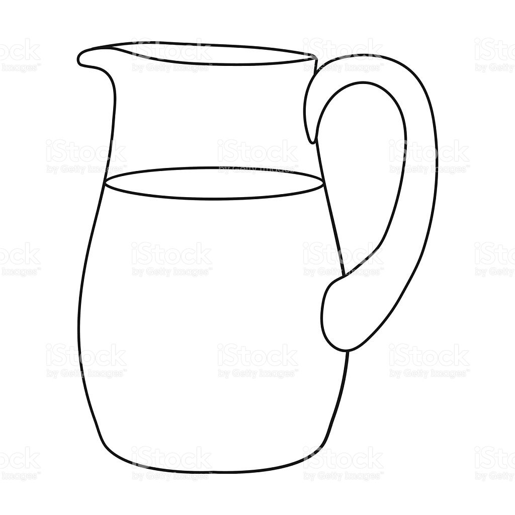 Line Drawing Jug : Jug clipart black and white station