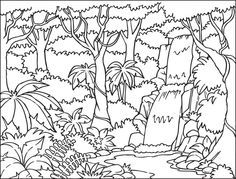 Jungle clipart black and white 10 » Clipart Station